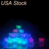 RGB Cube Lights Ice Decor Cubes Flash Liquid Sensor Agua Sumersible LED Barra de LED para el Club Body Party Stock en EE.UU. UEDALIGHT