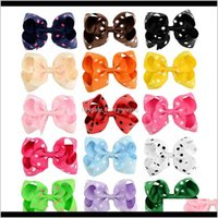 Baby Girls 45 Inch Polka Dot Grosgrain Ribbon Hairbows Boutique Bow Hairclips Hairpins Barrettes Kids Beautiful Huilin Hn Uinky