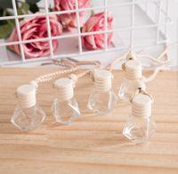 6ml 8ml Car perfume bottle car pendant perfume ornament air freshener for essential oils diffuser fragrance empty glass bottle