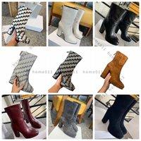 Роскошные бренд обувь дизайнерские сапоги высокие каблуки и натуральная кожа на открытом воздухе мода женские ботинки по Home011 15