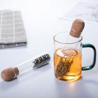 Newuniversal Glass Tè Setaccio Infusatore Tubo creativo Tubo Drinkware Strumenti riutilizzabili Filtro per tazza Fancy Slopy Teas Leaves Brewing Herb 728 B3