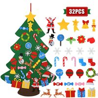 Kids DIY Felt Christmas Tree Christmas Decoration for Home 2021 New Year Gifts Christmas Ornaments Santa Claus Xmas Tree ZZA7562