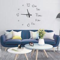 Wall Clocks 3D Clock Modern Design DIY Digital Acrylic Stickers Home Office Decor Watch For Living Room Luxury Decoration
