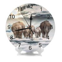 Wall Clocks 10inch Round Clock Elephant Numeral Digital Dial Mute Silent Non-ticking Electronic Battery Operated Table