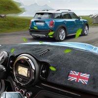 Tableau de bord de voiture Tapis de protection solaire Évitez le couvercle de coussin léger pour Mini Cooper Countryman F60 2021 Sécurité Drive Style Noir Autre Intérieur