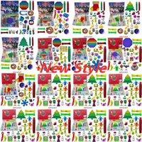 24/25 días Christmas Fidget Toy Cuenta regresiva Cuenta regresiva Calendario Cajas de ciegas Push Bubbles Bubbles Regalos para niños 10 Estilos Adviento Calendario Caja de Navidad