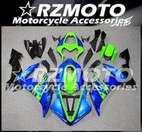 Enjeksiyon Kalıp YENI ABS Bütün Yüzler Kitleri Yamaha YZF-R1 2004 2005 2006 R1 04 05 06 Karoser Set Mavi Yeşil