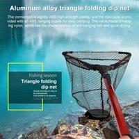 Fishing Net Pieghevole Rilascio leggero per uccello in lega di alluminio Fish Catch Accessori di atterraggio pieghevole
