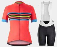Kırmızı Kadın Bisiklet Forması Set 2021 Pro Ekibi Yaz Bisiklet Giyim Bisiklet Giysileri Dağ Spor Kitleri Bisiklet Takım A8