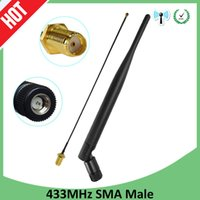 433MHz Antenna LORA LORAWAN 5dbi Male Connector 433 IOT antena waterproof directional antenne 21cm RP-SMA u.FL Pigtail Cable
