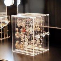 Kristall Schmuckkunststoff PS zeigt Regal Halskette Armband Rack Ohrringe Kleiderbügel Nail Art Display Stand Make up Organizer Aufbewahrungsboxen Behälter