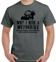 Camiseta de motocicleta por qué monto una moto para hombre Divertida Moto Yamaha Bike Kawasaki