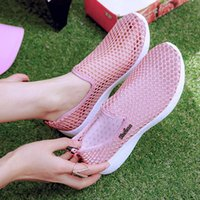 Sandals Women Mesh Slip On Flat Summer Sneakers Hollow Out Ladies Platform Casual Loafers Female Fashion Breathable Shoes