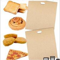 2 STÜCKE Toaster Taschen für gegrillte Käse Sandwiches leicht wiederverwendbare Nicht-Stick-Gebackene Toast Brot-Taschen Backen Gebäck-Werkzeuge JU0616