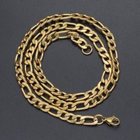 Piece Width 3mm 4mm 5mm 6mm Figaro Link Chain Nacklace Stainless Steel Jewelry Gold Color Curb For Pendant Men Women Chunky Chains