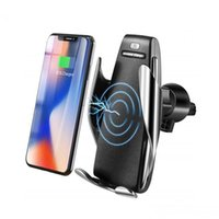 Phone Chargers S5 Automatic Clamping 10W Qi Wireless Car Charger 360 Degree Rotation Vent Mount Holder For iPhone Android Universal Phones