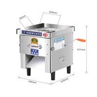 Fleischschleifer 2021 Kommerzielle Haushaltsschneidmaschine 850W Edelstahl Automatischer Slicer Shred Cutter