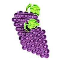 DHL FREE Fruit Grape Silicone Toy Rodent Control Pioneer Childrens Mental Arithmetic Desktop Interactive Finger Bubble Music Decompression Educational Toys