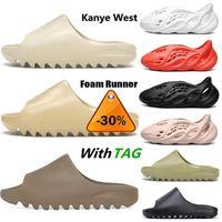 Top Fashion Summer Kanye Slippers Eva Runner Bone Desert Sand Resin Beach West Womens Mens Slides Slippers Children Sandals With Box