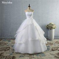 ZJ9043 2021 Vestidos de novia de marfil blanco de alta calidad con encaje hacia arriba atrás Vestidos nupciales Tamaño 2-26W
