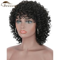 Lace Wigs Beauart Remy Human Hair Deep Small Curly Machine Wig 100% Brazilian For Black Women Natural Curls Full With Bangs