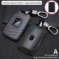 Carbon Fiber Remote Car Key Case For Megane Koleos Kadjar Talisman Espace Captur Clio Fob Cover key for 4 buttons