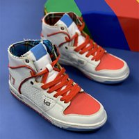 Urban Outlaw High Sports Schuhe Weiß Blau Rot Ishod Wair x Magnus Walker Skate Sneaker 277 Segel Basketballschuh