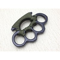 New ARIVAL Black alloy KNUCKLES DUSTER BUCKLE Male and Female Self-defense Four Finger Punches