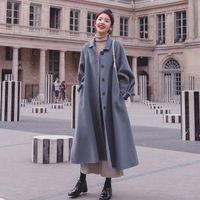 Women's Wool & Blends Jacket Women Coat Woolen Autumn And Winter Loose Veste Manteau Femme