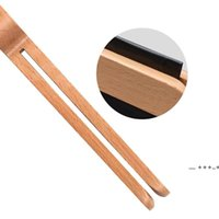 Spoon Wood Coffee Scoop With Bag Clip Tablespoon Solid Beech Wooden Measuring Scoops Tea Bean Spoons Clips Gift EWD10408
