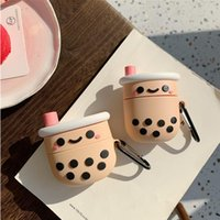 3D Boba Tea Silicone Case for Apple Airpods 3 2 1 Case Bluetooth earphone protective cover for Air pods Pro Cases soft capa