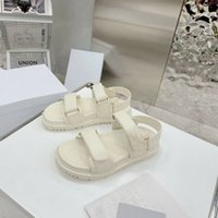 Thick Bottom Sandals Luxury Brand Designer Solid Color Women Shoes Top Quality Genuine Leather Womens New