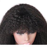 AFRO Kinky вьющиеся короткие боб парики прямые человеческие парики волос с шабами свободно глубокий тел перуанский никто не кружевные парики индийские волосы малазийцы