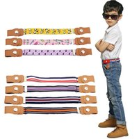 Kids Buckle-Free Elastic Belt Waist No Buckle Stretch Belts Toddlers Adjustable Boys and Girl`s Belts for Jeans 6 Colors