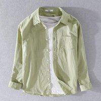 Шесть цветов 100% хлопок мужская рубашка с длинными рукавами Четыре сезона Модные Моды Все-матч Бизнес Повседневная Лучшая мужская Бренд Одежда Одежда Рубашки