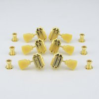 One Set Tuning Pegs Deluxe Vintage Guitar Machine Heads Tuners Gold Made in Taiwan