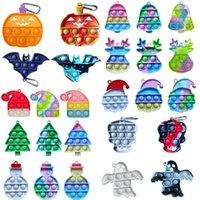 Dimple Keychain Fidget Toys Adult Stress Push Bubble Toy Antistress Popite Soft Squishy Funny Anti-stress Relief Surprise wholesale