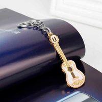 Сублимационная гитара модель металла брелок и сумка кулон ювелирные изделия брелок красивый подарок -50