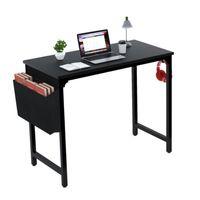 """الأزياء بالجملة الأثاث FXW 40 """"الكمبيوتر الجدول للمنزل مكتب دراسة أسود كتابة مكتب صغير"""