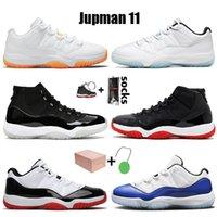 2021 أعلى جودة مع مربع 11 ثانية أحذية كرة السلة jumpman 11 منخفضة الأسطورة الأزرق الرجعية الحمضيات اليوبيل 25th الذكرى الذكرى bred نساء رجل المدربين أحذية رياضية
