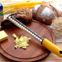 الفولاذ المقاوم للصدأ جبنة الليمون الزنجبيل زيستر الشوكولاته مبشرة مع غطاء بلاستيكي مريح مقبض أدوات المطبخ مفيدة الخبز RRD6861