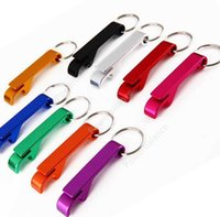 Bottle Opener Aluminum Chain Keyring Keychain beer wine claw bottle Metal Bar Tools with keychain Sea Shipping DHP49
