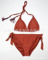 Swimwear Triangolo solido serie a vita alta spaccata