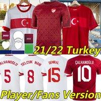 2021 تركيا يورو لكرة القدم الفانيلة المشجعين نسخة مشغل Celik Demiral Ozan Kabak Calhanoglu Turquia National Team Selcuk Nam Soyuncu Burak 2022 تدريب كرة القدم