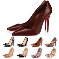 Designer Tacchi alti così Kate Red Bottoms Donna Dress Shoes Stilotto 8 10 12 cm Punto di punta in vera pelle Pompa Pump Domma