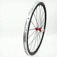 عجلات الدراجة 700c chincher 50mm عرض 23 ملليمتر r23 130x9mm الألومنيوم الخلفي الكربون العجلات 930 جرام بول 1432 تكلم عجلة