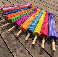 NewAtultans Chinese Hecho a mano Tela Paraguas Moda Viaje Color Color Oriental Parasol Parbrillas Boda Partido Decoración Herramientas EWA6488