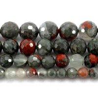 自然の硬い細かいアフリカの血の石の石の緩いビーズストランド6/8/10 / 12 / 12mmのジュエリーDIYのネックレスブレスレット