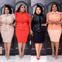 Ethnic Clothing 3 Piece Set Africa Clothes African Dashiki Fashion Mesh Blouse Tops Skirt Dress Suits Plus Size Party For Women Outfits