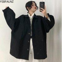 Women's Jackets Loose Bf Oversize Black Coat Female Schoolgirl Denim Autumn Jacket Women Chaqueta Mujer Plus Size Gothic Streetwear Boyfrien